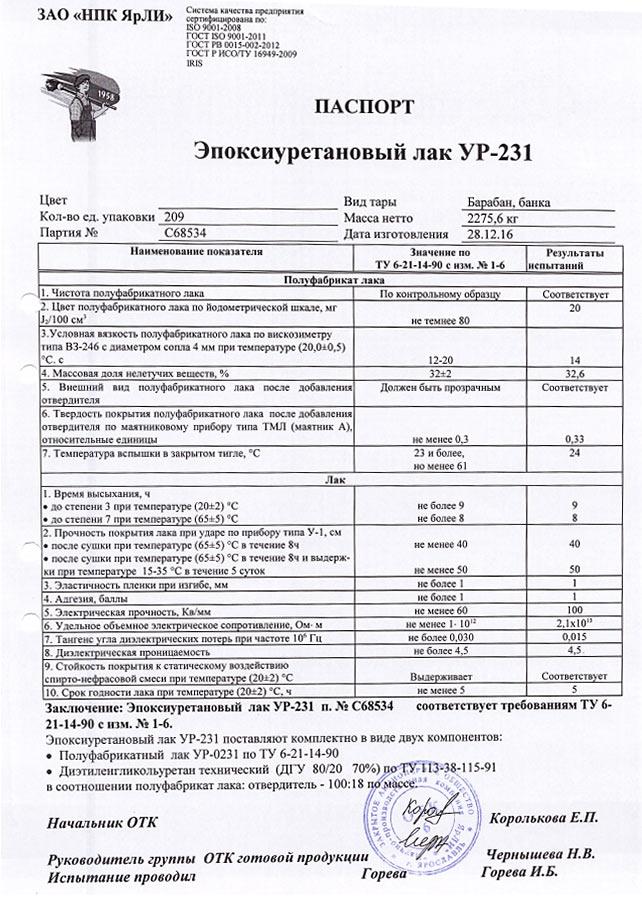 Лак ур-231 цена, фото, где купить пермь, flagma. Ru #2484039.